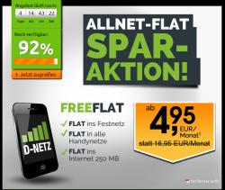 Freenet Allnet-Flat (D1-Netz) für 4,95€mtl. und ab 13. Monat 9,95€mtl. @Crash Tarife