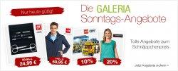 Galeria Sonntagsangebote, heute bis zu 72 % Rabatt, nur heute tolle Schnäppchen