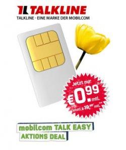 @getmobile.de bietet Takline E-Plus Talk Easy 100 Aktion eff. € 0,99 mtl. (100 Minuten, 3000 SMS, 500MB Internet)