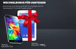 Gratis: Samsung Galaxy Tab 3 bei Kauf des Samsung Galaxy S5 @ Mehrwertpaket