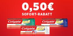 Hole dir jetzt Rabatt-Coupon für Colgate-Zahnpasta 0,50€ (ColgateTotal Original, Fresh Stripe und Whitening)