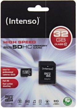Intenso 32GB Micro SDHC Speicherkarte für 11,11€ inkl. Versand [idealo 14,98€] @ ebay