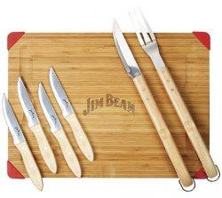 Jim Beam: 7tlg. Set Schneidebrett mit Steakmessern und Grillbesteck für 32,94€ inkl. Versand@ Garten XXL