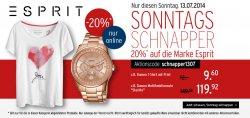 Karstadt Sonntagsschnapper – 20 Prozent Rabatt auf Fashion, Uhren, Schmuck… von Esprit
