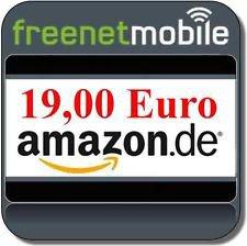 Komplett kostenlos: Bis zu 2x freenetMobile freeSmart o2 Vertrag  mit jeweils 19€ Amazon Gutschein