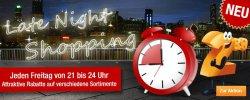 Late Night Shopping + 10 Prozent Rabatt auf den gesamten Sale (2 Gutscheine) für Plus.de
