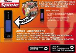 @lesershop.de: 3x Computerbild Spiele 11,50€ statt 17,40€ + Gratis 32GB USB Stick oder ….