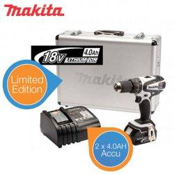 Makita DHP456RMWX White Bohrhammer (2 x 4,0 Ah) im Alukoffer für 279,95 € zzgl. 8,95 € Versand (305,00 € Idealo) @iBOOD Extra