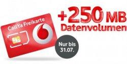 Neue Vodafone LTE CallYa-Freikarte, z.B. mit 250MB Datenflat für nur 10€ ODER ohne Datenflat kostenlos (9 Cent/Min.)
