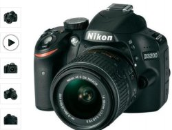 Nikon D3200 Kit 18-55 Nikon G VR II mit Gutschein nur 349€ inc Versand (idealo: 373€) @conrad.de