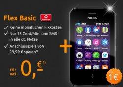 Nokia Asha 230 2.8 Dual-SIM Touchscreen-Handy für 1€ [idealo 39,99€] (+Vodafone-Tarif ohne Fixkosten, kein Anschlusspreis) @crash-tarife-de