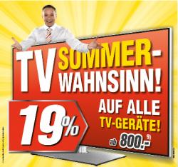 [Offline/LOKAL] Medimax – 19% auf alle TV Geräte ab 800€ – bis 19. Juli