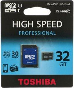 TOSHIBA 32GB microSDHC CLASS 10 + Adapter für 13,99 € (15,93 € Idealo) @MeinPaket