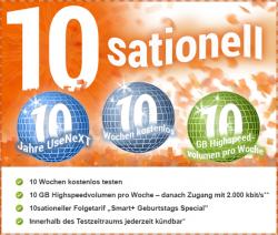 UseNext Geburstags Spezial 10 Wochen kostenlos Testen