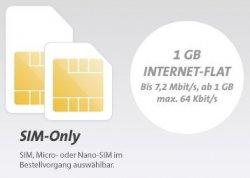 Vodafone:50 Freiminuten + 50 SMS + 1GB für effektiv 1,99€mtl.@ Sparhandy
