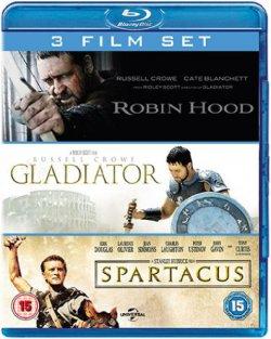 @zavvi.com 3er Sets Blu-ray: Gladiator / Spartacus / Robin Hood für ca. 7,56€