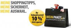 10% Gutschein bei MeinPaket ohne Mindestbestellwert, bis 2500€ anwendbar!