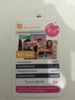 10,-€ Rabatt bei abo-direkt.de