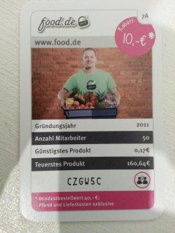 10,-€ Rabatt bei Food.de