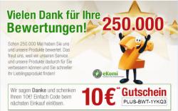 10€ Gutschein mit 60€ MBW @Plus.de