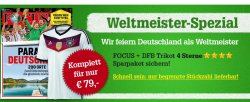 13 x Focus + DFB 4 Sterne WM T-Shirt  für zusammen 79€ – sonst Preis für T-Shirt allein schon so hoch!