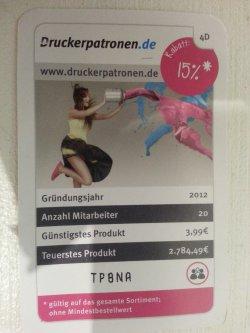 15% Rabatt bei Druckerpatronen.de