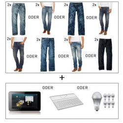 2 H.I.S. Jeans + Archos Arnova G3 Tablet oder iPad Bluetooth Tasta, 7x Samsung LED Lampe für 79€ @ ebay