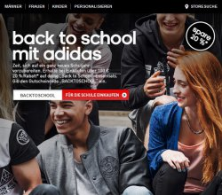 20% Rabatt auf die Adidas Back to School Kollektion @adidas.de