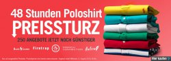 250 Poloshirts für 48 Stunden stark gesenkt z.B.Crosshatch Herren Jacklass Polohemd Rot für 4,76 Euro (statt 24,77 Euro Idealo) bei MandM Direct