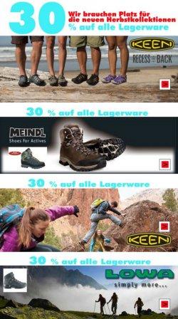 30% auf Keen, Meindl und Lowa @outdoortrekking2010.de