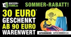 30€ Rabatt ab 90€ MBW z.B. Saucony Kinvara 5 69,99€ (idealo 94,92 €) @Soccer-Fans-Shop.de