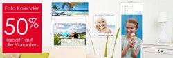 50% Frühbesteller-Rabatt auf alle Fotokalender bei Foto Quelle