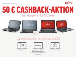 50€ Cashback Aktion auf die Fujitsu LIFEBOOK A512, A544 und AH544