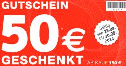 50€ Gutschein ab MBW 150€ @ XXXLSHOP gültig Lokal & Online
