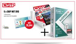 6 x Chip mit DVD inkl. 15€ Tankgutschein + Kaspersky PURE 3.0 Jahreslizenz Wert 29,89€ für 29,94€ @
