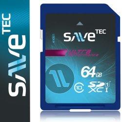 64 GB SaveTec SDXC Class 10 Speicherkarte für nur 17,76€ statt 29,73€ inkl. Versand @Amazon