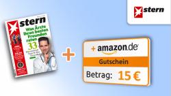 7 Ausgaben vom Stern und 15 € Amazon Gutschein für 14,70 € @wirsparen.de