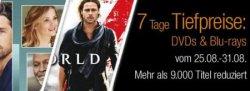 7 Tage Tiefspreise auf DVD`s und Blu-rays vom 25.08 – 31.08 @Amazon, z.B. Iron Man 3 (Blu-ray) für nur 6,97€