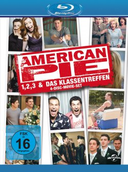 @amazon: American Pie 1, 2, 3 + Das Klassentreffen (Limited Edition 4 Blueray) nur 13,97€