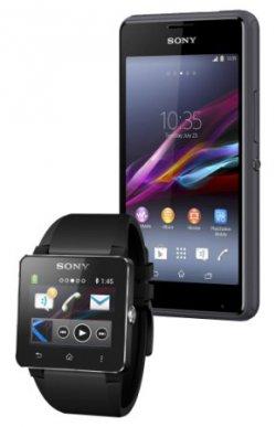 Base Pur – 50 Freiminuten + 50 Frei SMS + 50 MB + Sony Xperia E 1 + Zugabe z.B. Sony SmartWatch 2 SW2 für 8,50€ mtl. @ Getmobile
