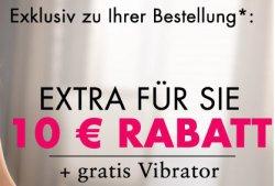 Beate Uhse: 10€ Gutschein + gratis Vibrator