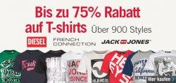 Bis zu 75 Prozent Rabatt auf über 900 T-Shirts bei MandM Direct – Shirts ab 3,95 Euro