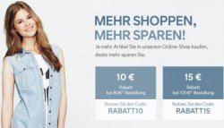 C&A Gutscheine mit 10€, 15€ oder 20€ Rabatt (je nach Bestellwert)
