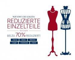 C&A SALE: Einzelteile bis 70 % reduziert. z.B. 7 Paar Sneaker-Socken schwarz oder weiß für 2,50€