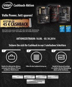 Cashbackaktion bei ASUS bis zu 45€