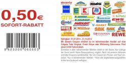Collage Total Rabattcoupon 0,50€ als PDF