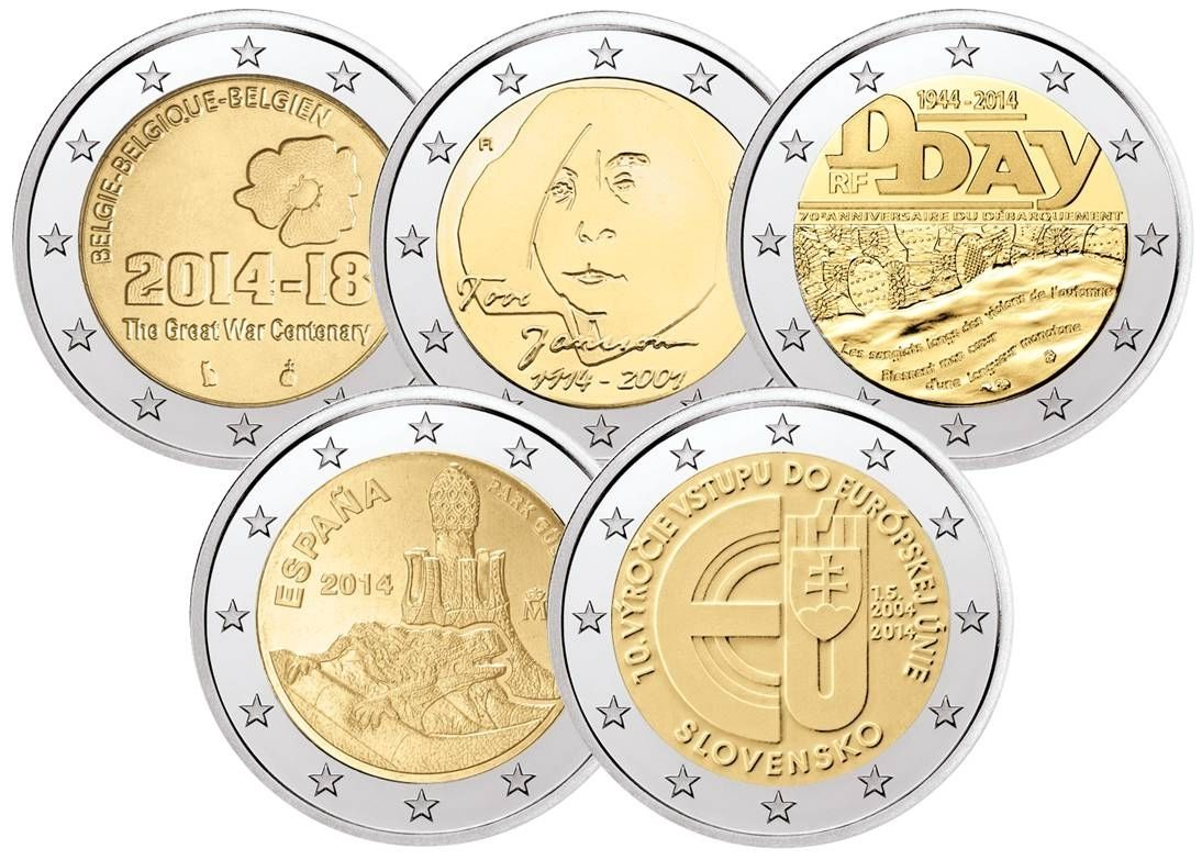 Ebay Bietet Tauschaktion 5x 2 Euro Münze 2014 Belgien Finnland