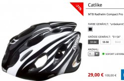 @engelhorn.de: Catlike MTB Radhelm Compact Pro nur 29€ + 3,95€ Versand  (Idealo: 49,08€)