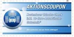 EUROMASTER: Kostenloser Fahrzeug-Check + 10 € Autowäsche Gutschein für Aral