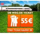 Exklusiv & nur für kurze Zeit: DB von @weg.de Ticket für 55€ für 2 Personen